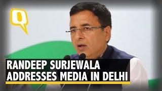 Randeep Surjewala Addresses Media in Delhi