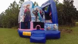 Disney Frozen Bounce House Combo Rental Jacksonville Florida