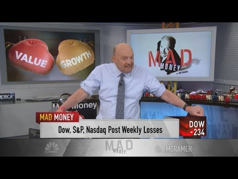 Jim Cramer explains why tech and value stocks are trading in opposite directions