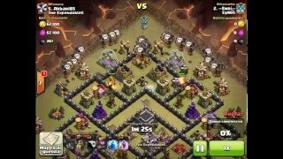 3 stelle in war ai th9 lavaloon clash of clans