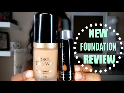 NEW TOO FACED BORN THIS WAY FOUNDATION + COVER FX CUSTOM COVER DROPS REVIEW  for WOC | Andrea Renee - YouTube