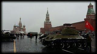 Парад 7 ноября 2016. Военная техника Второй мировой войны.
