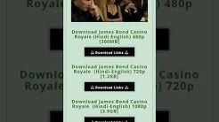Casino royale  hindi // full movie download   // 400mb // hd