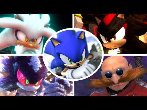 Sonic The Hedgehog (2006) - All Bosses + Cutscenes (S Rank)