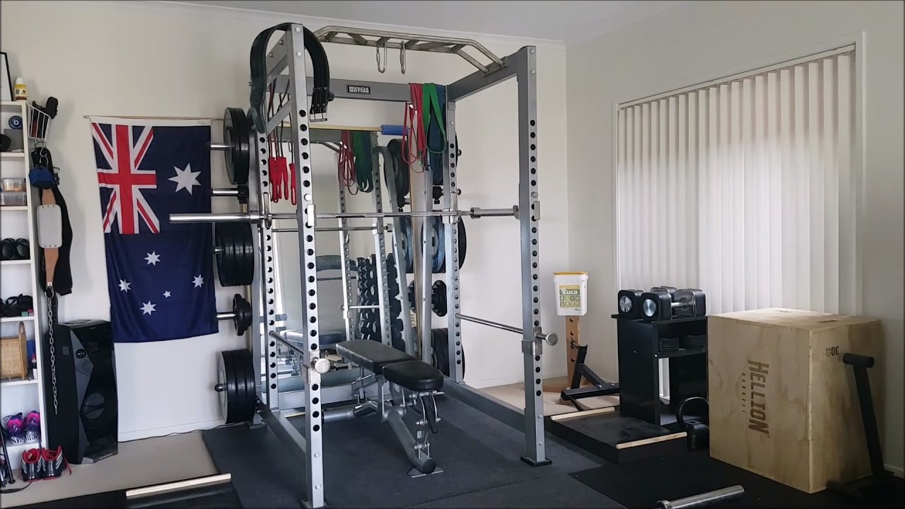 Tour my powerlifting home gym youtube