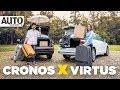 Duelo de espaço entre Volkswagen Virtus e Fiat Cronos