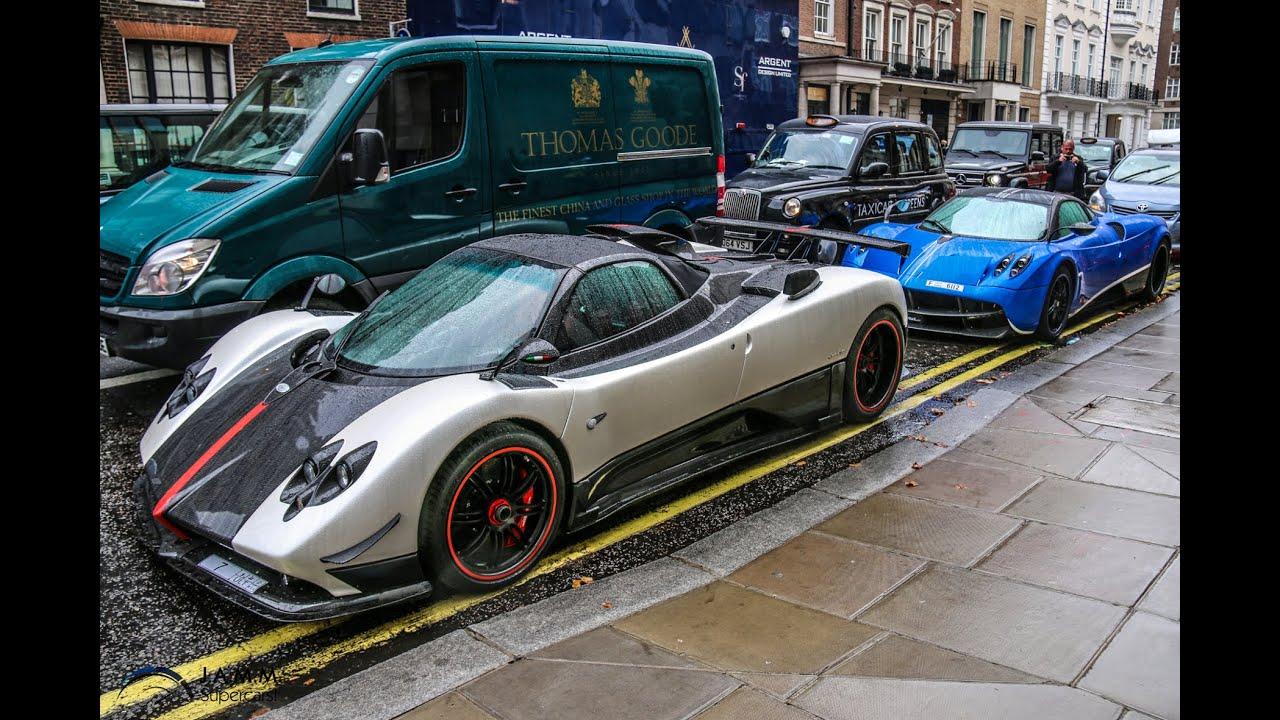 Supercar Invasion London Pagani Zonda Cinque Huayra Enzo
