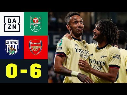 Aubameyang-Hattrick: Arsenal ballert