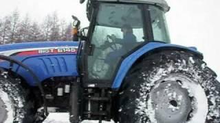 トラクターで雪中走行&スノードリフトしてみた ISEKI BIG-T 6000 SNOW DRIFT