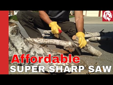 """Tabor Tools 13"""" Pruning Saw: cuts like a buzz saw!  Fatwood Saw Christmas 2017 Gift Idea"""
