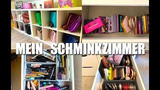 Mein XXL Schminkzimmer | Roomtour | Schminksammlung | YouTube Zimmer | XXL Taschensammlung
