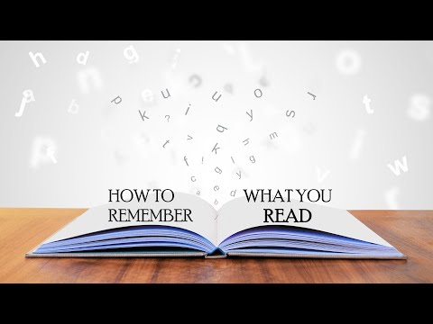 ways to remember what you read