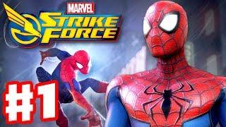 Marvel Strike Force - Gameplay Walkthrough Part 1 - Spiderman, Captain America, Luke Cage, Punisher!