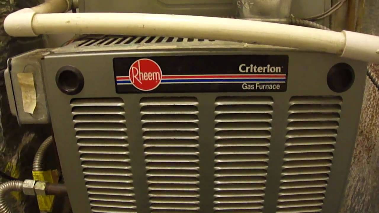 Rheem Criterion High Efficiency Furnace & Central A/C - YouTube