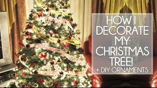 How I Decorate My Christmas Tree + DIY Ornaments! Thumbnail