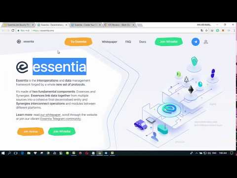 Essentia ICO [ ESS ] - Accelerate and facilitate this new wave of decentralized computing