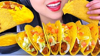 ASMR CHEESY CRUNCHY TACOS Taco Bell At Home Taco Bar (EATING SOUNDS NO TALKING) ASMR Phan