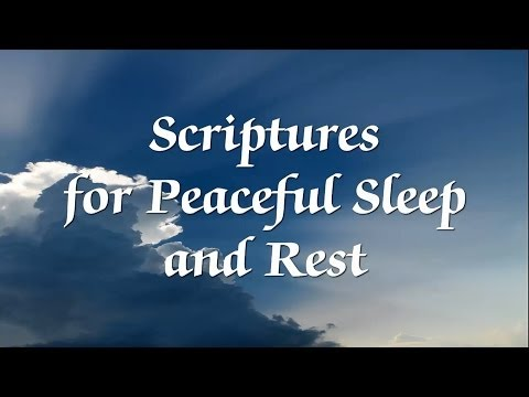 Bible Scriptures For Peaceful Sleep And Rest