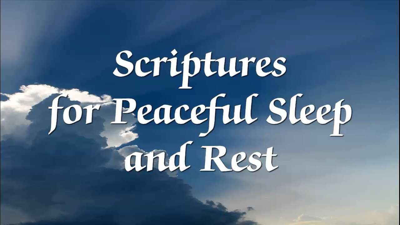 Bible Scriptures For Peaceful Sleep And Rest With Narration Youtube