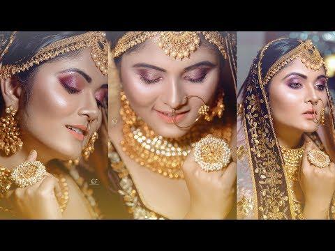 c04aa6594581 Sparkle Indian Bridal Makeover | Makeup Artist Namrata Chakraborty |  Photographer LOukik Das