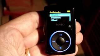 Audiobooks on Sansa Clip