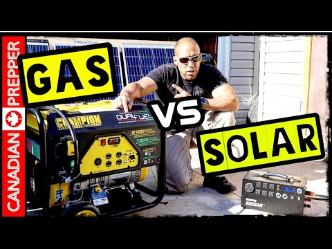 Solar Vs Gas Generators for Emergency Preparedness and SHTF | Inergy Apex