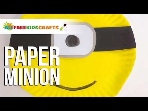 Paper Plate Minion 2