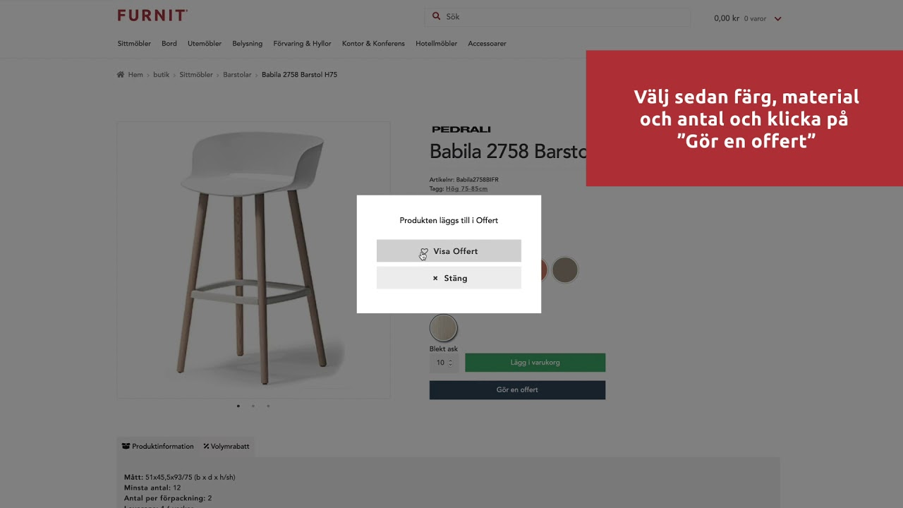 Designmöbler för hotell, restaurang och kontoret Furnit