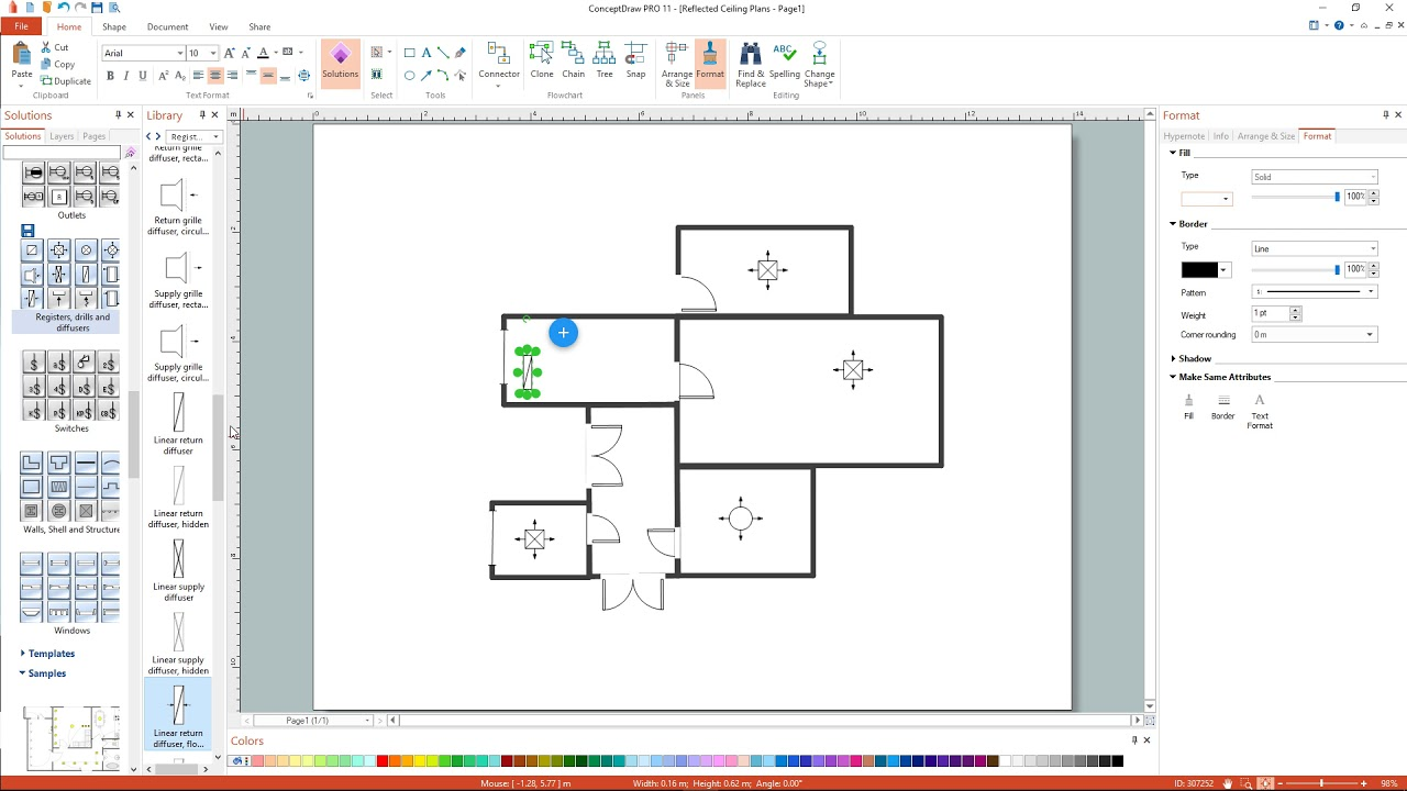 How to Draw a Reflected Ceiling Floor Plan - YouTube