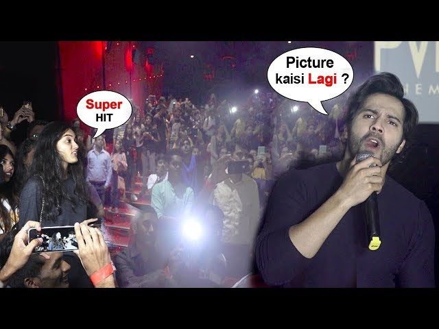 Varun Dhawan SHOCKS & Surprises FANS Watching October Movie INSIDE Pvr Theatre In Mumbai