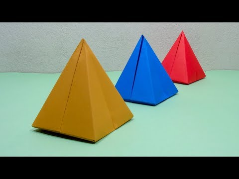 How To Make a Paper 3D Pyramid | Very Easy Origami Pyramid for Beginners   DIY Crafts Ideas