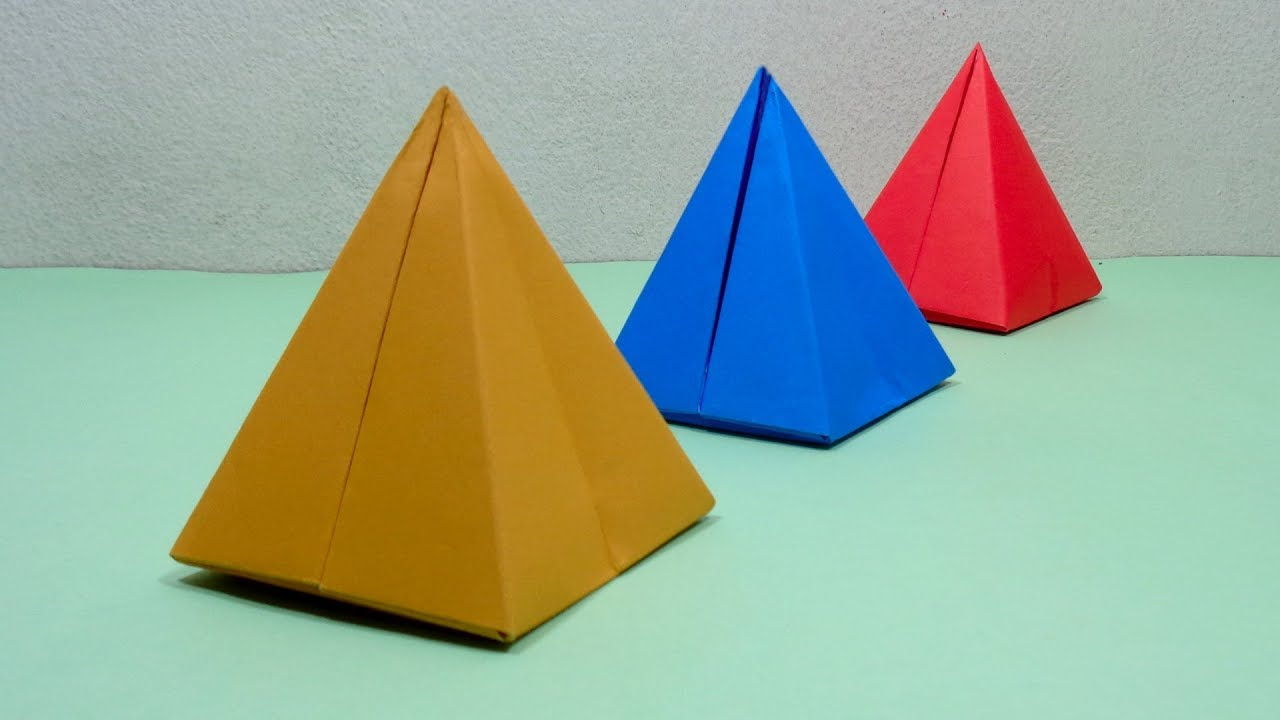How To Make A Paper 3d Pyramid Very Easy Origami Pyramid For