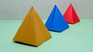 How To Make a Paper 3D Pyramid   Very Easy Origami Pyramid for Beginners   DIY Crafts Ideas