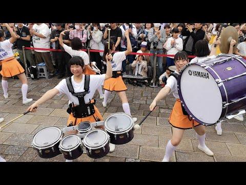 京都橘高校吹奏楽部 ブルーメの丘2019【4K】 sing sing sing パーカス Kyoto Tachibana SHS Band ▶2:34