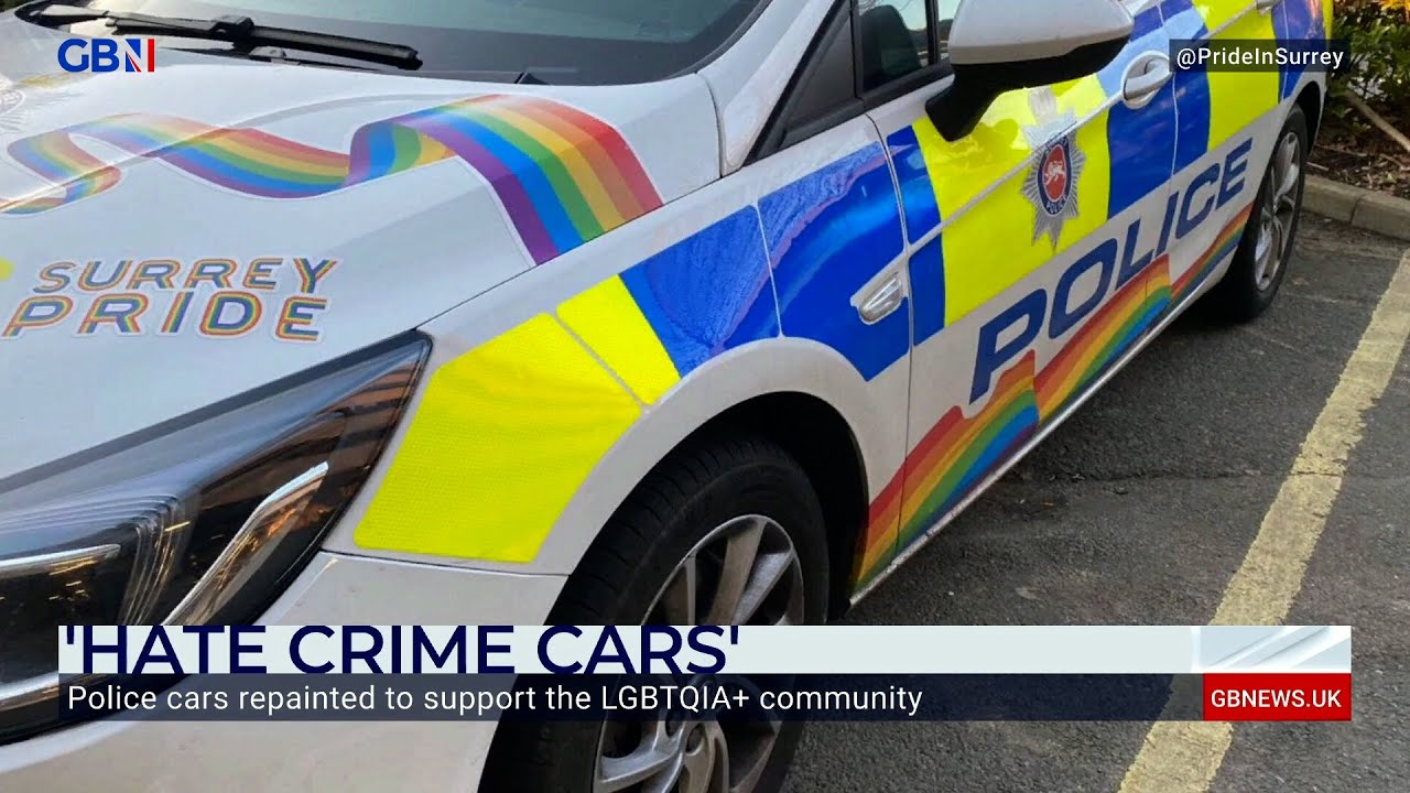 Former officer reacts in anger at police cars being repainted in support of the LGBT+ community