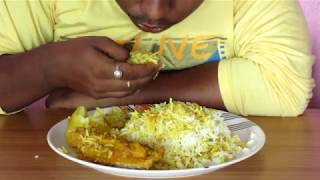 Eating Chicken Biryani || Mukbang || Indian Food || Hot Chilli