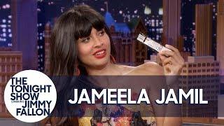 Jameela Jamil Reveals All the Snacks Hidden in Her Dress