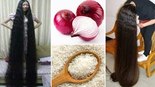 How To Grow Long & Stop Hair Fall With Onion & Rice|Magical Hair Growth Treatment 100% Works