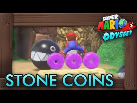 Super Mario Odyssey - All Purple Stone Coins (Cascade Kingdom)