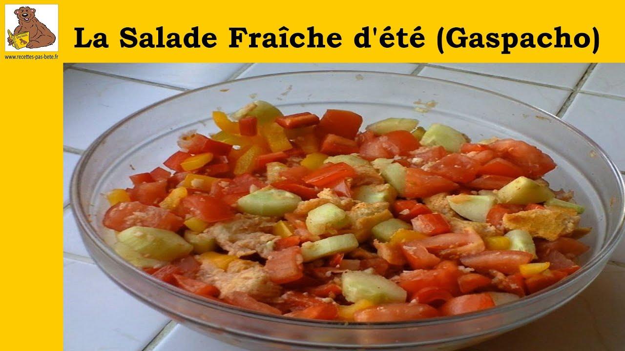 salade fra che d 39 t gaspacho recette rapide et facile hd youtube. Black Bedroom Furniture Sets. Home Design Ideas