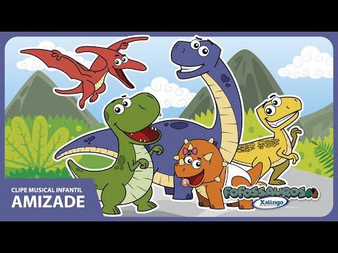 Clipe infantil AMIZADE - Fofossauros