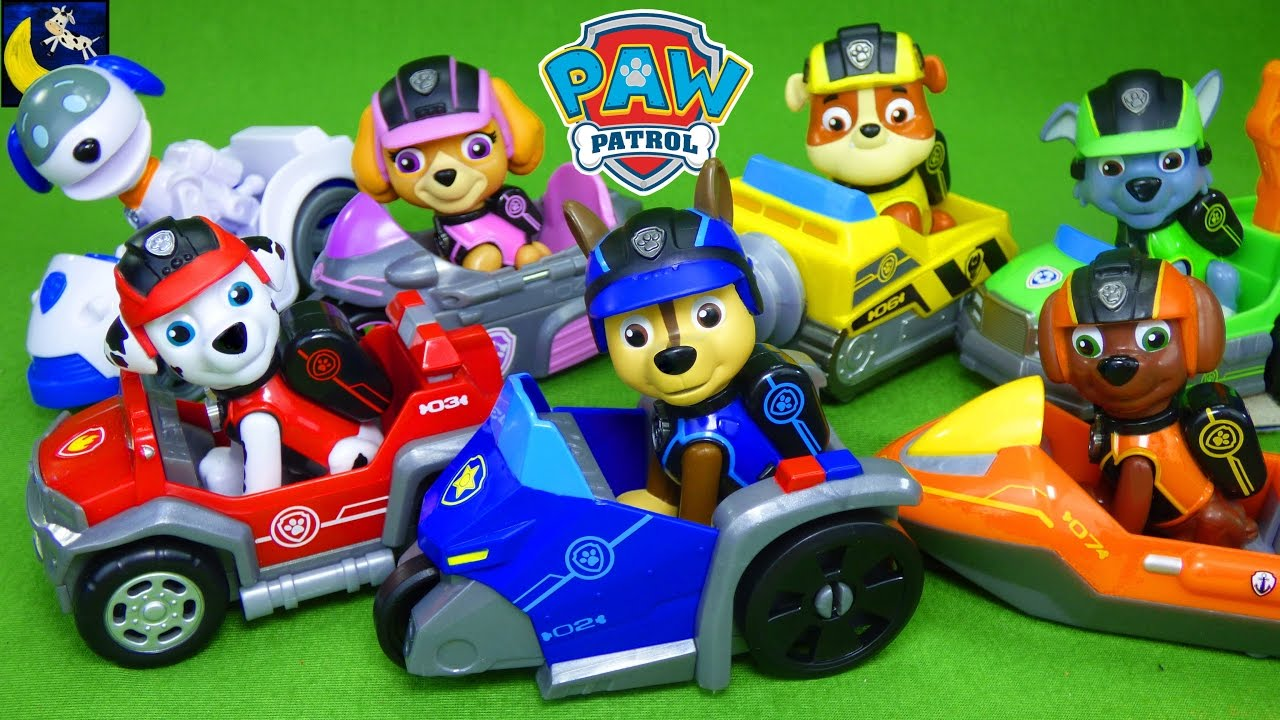 Paw Patrol Toys Mission Paw Vehicles Air Rescue Pups Apollo the Super Pup  Racer Mission Cruiser Toy