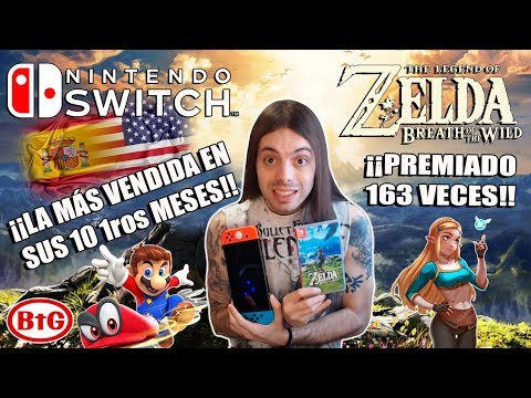 ¡¡ÉPICO!! SWITCH BATE RÉCORDS EN EEUU...¡¡Y ESPAÑA!! ¡¡Zelda BOTW 163 veces nº1!! | Nintendo - BtG