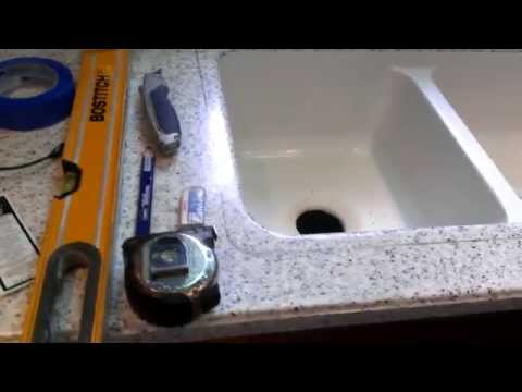 How to replace a corian (resin) sink