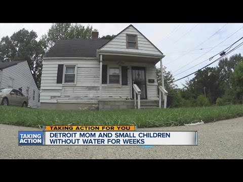 Detroit mother without water for weeks