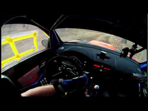Rally Driver's Hands: Reflexes And Reaction. Crazy Leo's Testing Onboard