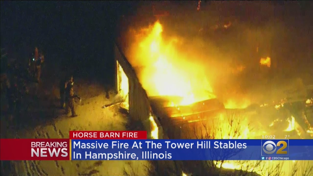 Horse Barn Fire In Hampshire