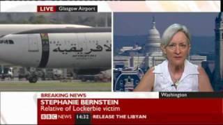 Lockerbie bomber released. Shame on MacAskill says widowed Stephanie Bernstein.