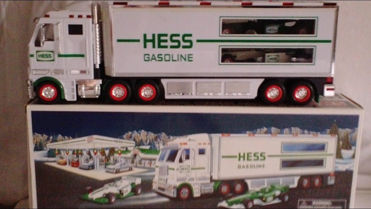 2003 Hess Toy Truck And Racecars Review Lights Youtube