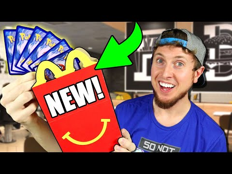 I WENT TO McDONALDS SEARCHING FOR THE NEW POKEMON CARDS! + Opening a Hidden Fates Box